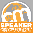 I'm speaking at Content Marketing World Cleveland September 2013